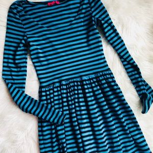 Betsey Johnson Archive Fit & Flare Striped Dress